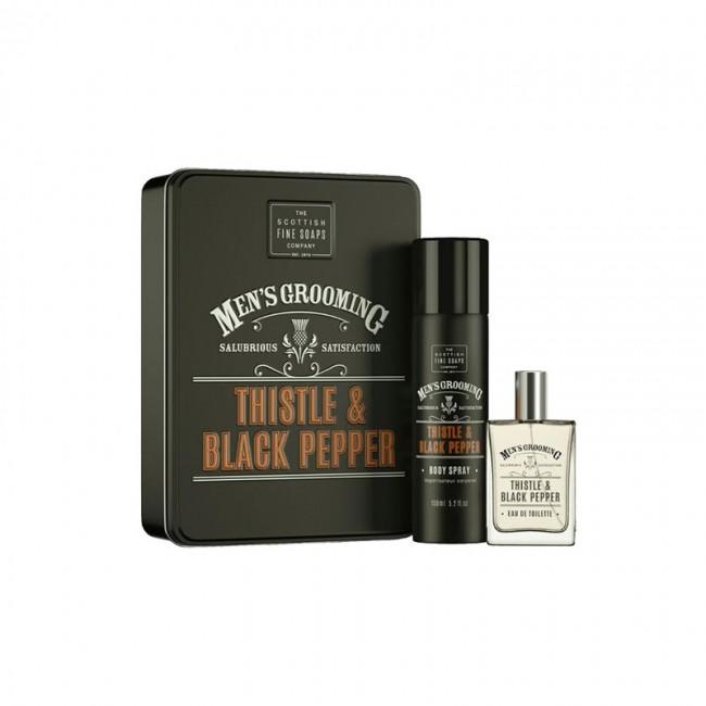 Scottish Fine Soaps dueto dovanų rinkinys Thistle and Black Pepper