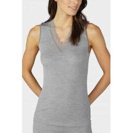 Mey merino vilnos-šilko apatiniai marškinėliai pilki