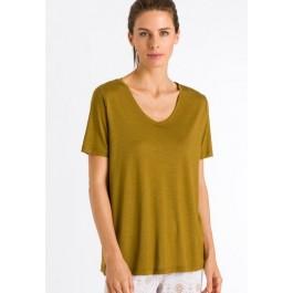 Hanro marškinėliai garstyčių spalvos