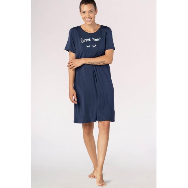 MEY naktiniai marškiniai trumpomis rankovėmis tamsiai mėlyni