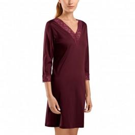 Hanro naktiniai marškiniai bordo spalvos
