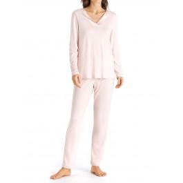 Hanro moteriška pižama rausva