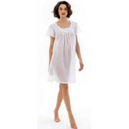 Celestine naktiniai marškiniai balti batistiniai