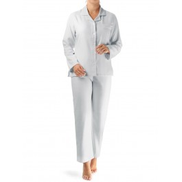Novila klasikinio kirpimo flanelinė pižama pilka