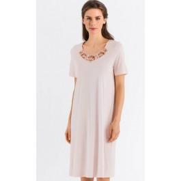 Hanro naktiniai marškiniai perlų spalvos