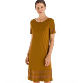 Hanro naktiniai marškiniai tamsios samanų spalvos