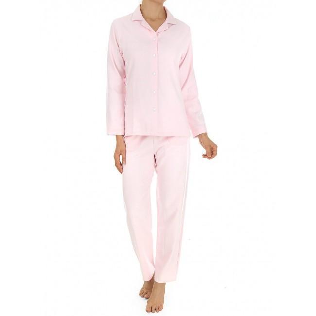 Novila klasikinio kirpimo flanelinė pižama rožinė