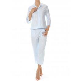 Novila klasikinė satininė pižama su 3/4 kelnėm ir rankovėm
