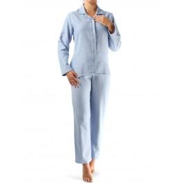 Novila klasikinio kirpimo flanelinė pižama žydra