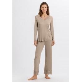 Hanro moteriška pižama rusvos spalvos