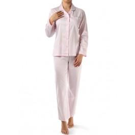 Novila klasikinio kirpimo satininė pižama rožinė