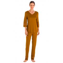 Hanro pižama tamsios samanų spalvos