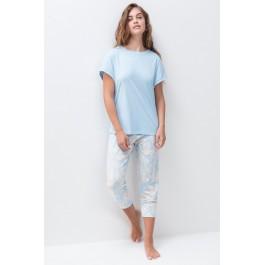 MEY moteriška pižama gėlėtom kelnėm