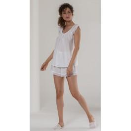 Celestine pižama - šortai kreminės spalvos