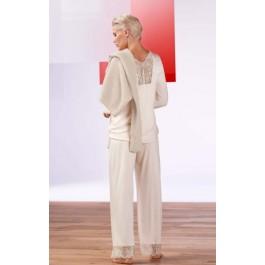 Hanro moteriška pižama kristalo spalvos