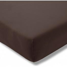 Estella trikotažinio audinio paklodė su guma ruda
