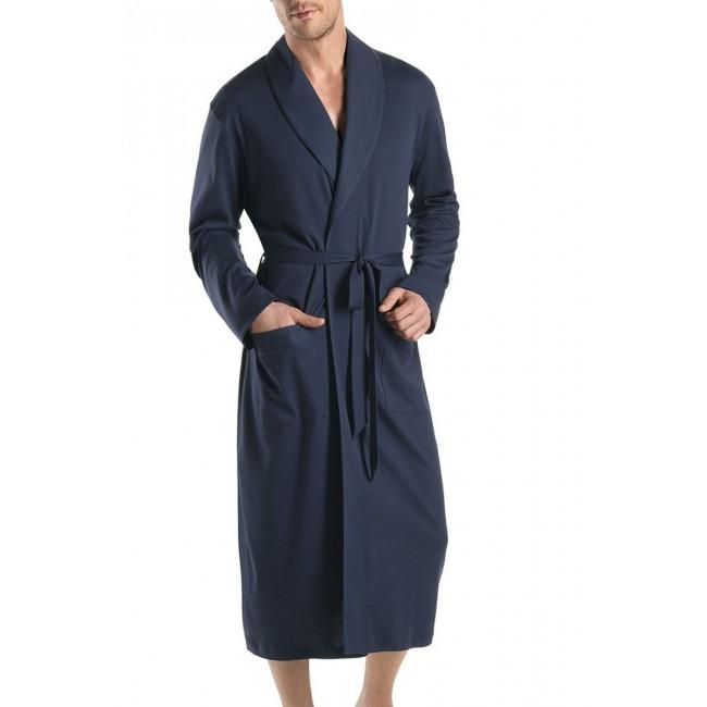 Hanro elegantiškas chalatas mėlynas