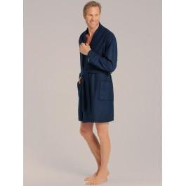 Taubert vyriškas chalatas kimono kirpimo trumpas tamsiai mėlynas