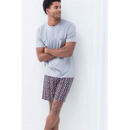 MEY vyriška pižama su šortais pilka
