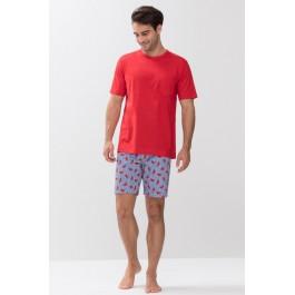 MEY vyriška pižama su šortais raudona