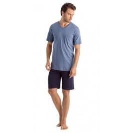 Hanro vyriška pižama su šortais žydra