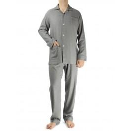 Novila vyriška pižama flanelinė šviesiai pilka