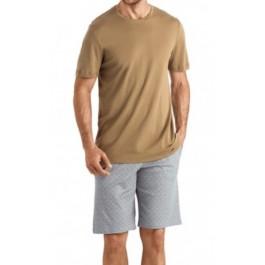Hanro vyriška pižama su šortais ruda