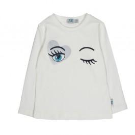 Melby balti marškinėliai- akytės