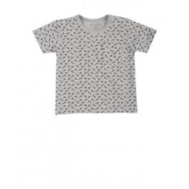 Fixoni marškinėliai vyrukui pilkšvi trumpomis rankovėmis