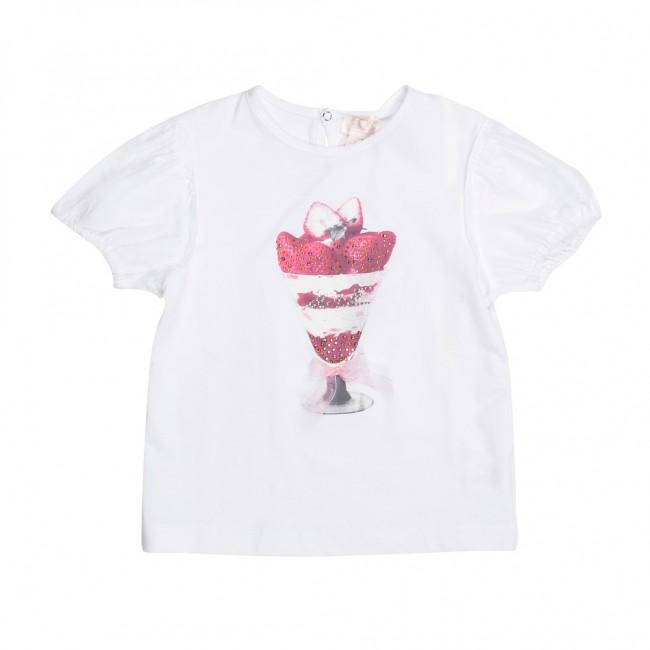 U+E laisvalaikio marškinėliai mažajai puošeivai