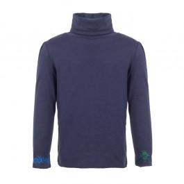 STELLA MCCARTNEY tamsiai mėlyni marškinėliai su apykakle