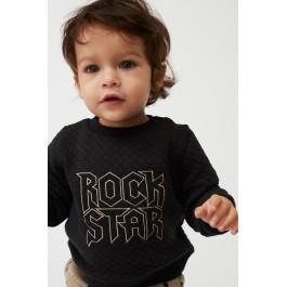 """Petit by Sofie Schnoor juodas džemperiukas laisvalaikiui """"Rock star"""""""