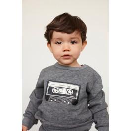 Petit by Sofie Schnoor pilkas džemperiukas su aplikacija laisvalaikiui