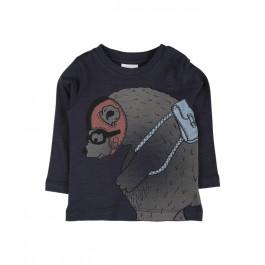 En fant marškinėliai tamsiai mėlyni ilgomis rankovėmis