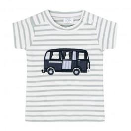 Hust and Claire dryžuoti šviesūs marškinėliai- autobusiukas