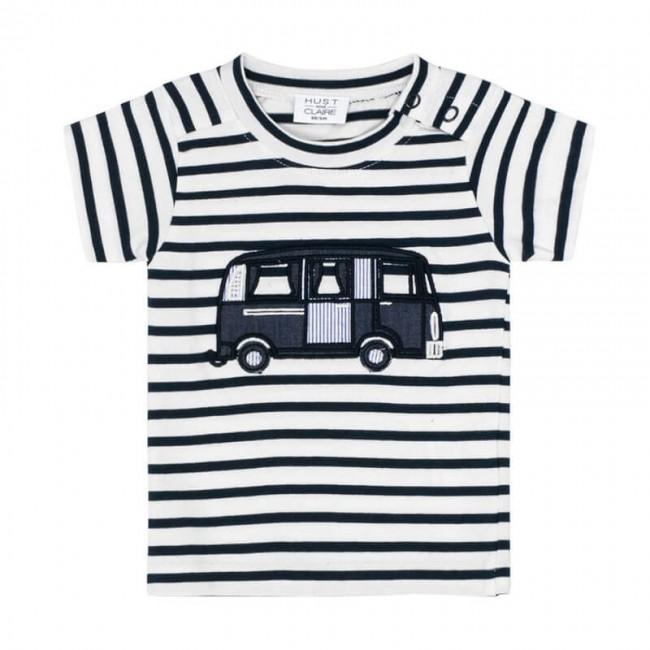 Hust and Claire dryžuoti marškinėliai- autobusiukas