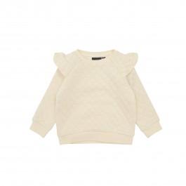 Petit by Sofie Schnoor pieno spalvos puošnus džemperiukas mažylei