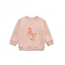 Petit by Sofie Schnoor rausvas puošnus su žėručiu laisvalaikio džemperiukas