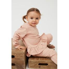 Petit by Sofie Schnoor šviesiai rausvas šiltas puošnus džemperiukas mažylei